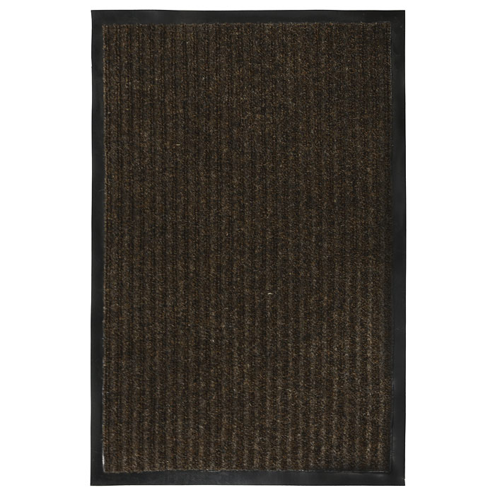 Коврик придверный Vortex, влаговпитывающий, цвет: коричневый, 40 см х 60 см22078Придверный влаговпитывающий коврик Vortex коричневого цвета выполнен из ПВХ и полиэстера. Он прост в обслуживании, прочный и устойчивый к различным погодным условиям. Лицевая сторона коврика ребристая. Прорезиненная основа коврика предотвращает его скольжение по гладкой поверхности и обеспечивает надежную фиксацию. Такой коврик надежно защитит помещение от уличной пыли и грязи. Характеристики:Материал:ПВХ, полиэстер. Размер коврика:40 см х 60 см. Цвет:коричневый. Изготовитель:Китай. Артикул:22078.