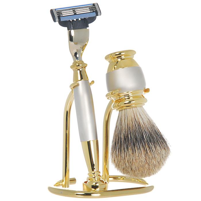 Подарочный набор для бритья S. Quire, цвет: золотистый с металликом s quire бритвенный набор s quire 6253
