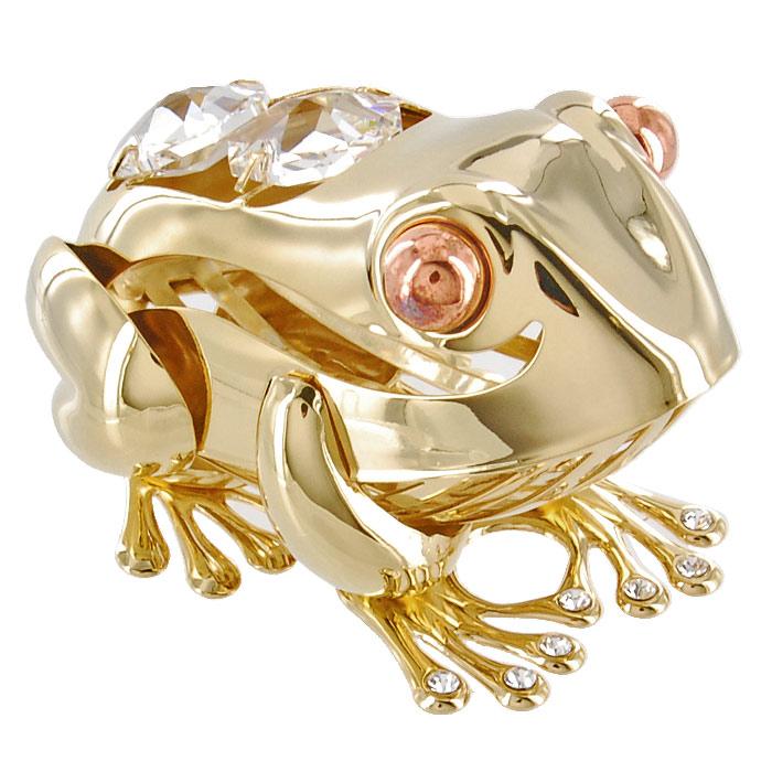 Миниатюра Большая лягушка, цвет: золотистый, 6,5 смCBG30107 (4)Декоративное изделие в виде лягушки, украшенное на спинке и лапах бесцветными кристаллами Swarovski, изготовлено из высококачественной стали. Оригинальная миниатюра будет отличным подарком для ваших друзей и коллег.Более 30 лет компания Crystocraft создает качественные, красивые и изящные сувениры, декорированные различными кристаллами Swarovski.Характеристики:Материал:сталь, кристаллы Swarovski. Длина:6,5 см. Размер коробки:6,5 см х 9 см х 4,5 см. Артикул:U0250-001-GC1. Производитель: Китай.