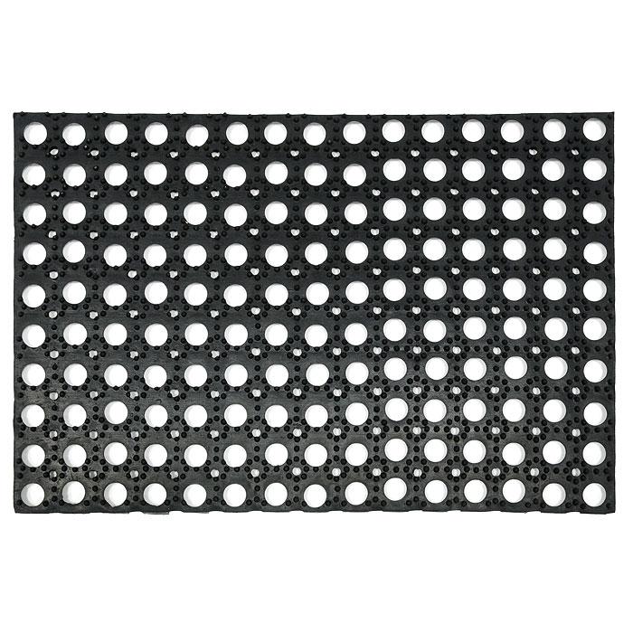 Коврик придверный Vortex, грязесборный,40 х 60 см20001Придверный ячеистый коврик Vortex изготовлен из прочной и долговечной резины. Конструкция коврика имеет специальные ребра, которые помогают более эффективно удалять грязь с обуви, а отверстия в конструкции удаляют излишки воды. Придверный коврик Vortex надежно защитит помещение от уличной пыли и грязи. Характеристики:Материал:резина. Размер коврика:40 см х 60 см х 1,5 см. Производитель:Китай. Изготовитель:Индия. Артикул:20001.