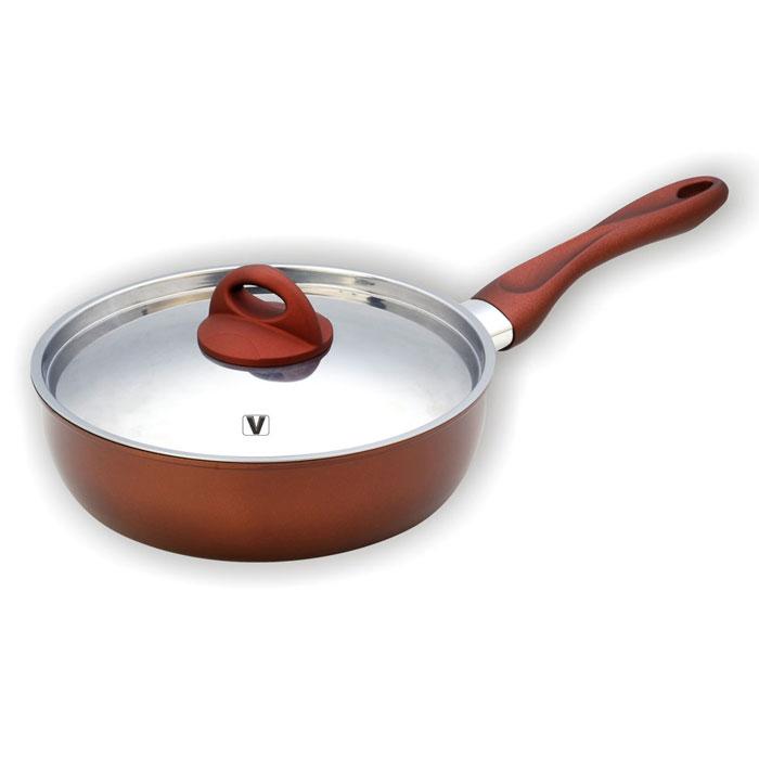 Сковорода Vitesse Blythe, с антипригарным покрытием. Диаметр 24 см94672Сковорода Vitesse Blythe станет незаменимым помощником на кухне. Сковорода изготовлена из высококачественной углеродистой стали толщиной 1,2 мм. Внешнее элегантное цветное покрытие, подвергшееся высокотемпературной обработке, устойчиво к царапинам. Внутреннее антипригарное покрытие Exdura 2 также устойчиво к царапинам. Бакелитовая ненагревающаяся ручка удобной формы. Крышка выполнена из нержавеющей стали с двумя отверстиями для выпуска пара. Пригодна для мытья в посудомоечной машине. Подходит для всех видов варочных панелей. Характеристики: Материал: сталь, бакелит. Диаметр сковороды: 24 см. Высота стенок сковороды: 7 см. Длина ручки: 20 см. Размер упаковки: 38 см х 33 см х 14 см. Производитель: Франция. Изготовитель: Китай. Артикул: VS-1164. Французская торговая марка Vitesse представляет высококачественную посуду из нержавеющей стали 18/10. Vitesse профессионально занимается разработкой, производством и реализацией своей продукции на российском рынке. В настоящее время Vitesse насчитывает уже более 1000 наименований.Продукция, которая экономит силы и время, а самое главное еда, приготовленная в посуде Vitesse, дает вам силу, здоровье и энергию. Пользоваться продукцией Vitesse в наш стремительный век легко и приятно.