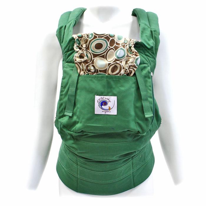 Рюкзак-переноска ERGO Baby Carrier: Organic. Морская галька, цвет: зеленый ergo baby carrier performance