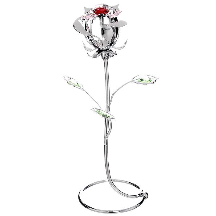Миниатюра Роза, цвет: серебристый, 18 см90568Миниатюра Роза серебристого цвета, станет необычным аксессуаром для вашего интерьера и создаст незабываемую атмосферу. Кристаллы, украшающие сувенир, носят громкое имяSwarovski - ограненные, как бриллианты, кристаллы блистают сотнями тысяч различных оттенков.Эта очаровательная вещь послужит отличным подарком близкому человеку, родственнику или другу, а также подарит приятные мгновения и окунет Вас в лучшие воспоминания. Характеристики: Материал: металл, австрийские кристаллы. Высота миниатюры: 18 см. Цвет: серебристый. Изготовитель: Китай. Артикул: U0354-159-CRE. Более чем 30 лет назад компанияCrystocraftвыросла из ведущего производителя в перспективную торговую марку, которая задает тенденцию благодаря безупречному чувству красоты и стиля. Компания создает изящные, качественные, яркие сувениры, декорированные кристалламиSwarovskiразличных размеров и оттенков, сочетающие в себе превосходное мастерство обработки металлов и самое высокое качество кристаллов. Каждое изделие оформлено в индивидуальной подарочной упаковке, что придает ему завершенный и презентабельный вид.