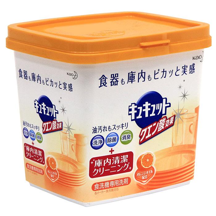Порошок для посудомоечной машины KAO Citric Acid Effect, аромат апельсина, 680 г790009Порошок для посудомоечной машины с легким ароматом апельсина. Новая формула порошка снимает грязь не только с посуды, а также заботится о чистоте посудомоечной машины. Компоненты тщательно обволакивают каждую частицу грязи и не дают ей прилипнуть к стенкам машины. Двойная сила частиц кислорода и лимонной кислоты в составе также легко удаляет подгары, снимает тусклость со стеклянных стаканов, которые было сложно смыть обычными моющими средствами. Порошок укомплектован мерной ложечкой.Нельзя использовать на лакированной, серебряной, алюминиевой посудах, на хрустале, на посуде с позолотой или с серебряным покрытием. СПОСОБ ПРИМЕНЕНИЯ: (если размер машины рассчитан на 5-7 человек, 40-50 единиц), то для сильных – 9г, для обычных – 6г, для слабых – 4,5г. Характеристики: Вес: 680 г. Состав: ПАВ(3%), полиэфирный полиол, щелочной элемент(карбонат), вещество для умягчения воды(цитрат), сульфат, диспергатор, поверхностное модифицированное вещество, отбеливающее вещество, энзим. Производитель: Япония. Артикул: 25984. Японская компания KAO занимается разработкой и производством продукции для повседневной жизни, а также товаров промышленного назначения. Особое внимание компания уделяет разработке новых товаров. По многим позициям компания занимает лидирующее место в Японии.