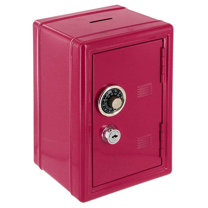 Копилка Эврика Сейф, с ключом, цвет: красный, 12 х 17,5 х 10 см91647Оригинальная копилка Эврика Сейф, выполненная из металла и оснащенная двумя замками (кодовый и обычный),позволит вам скопить приличную сумму, например на поездку, отдых или давно желанную покупку. Внутри есть ящичек для мелочи. Кодовый замок открывается поворотом ручки в любую сторону.