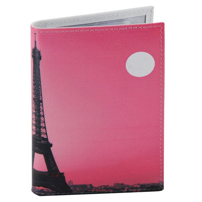 Визитница Perfecto Вечерний Париж, цвет: розовый. VZ-PR-0036MX3024820_WM_SHL_010Компактная визитница Вечерний Париж - стильная вещь для хранения визиток. Обложка визитницы выполнена из натуральной кожи и оформлена изображением Эйфелевой башни.Визитница предназначена для хранения 18 визиток. Характеристики: Материал: натуральная кожа, пластик.Размер визитницы: 7 см x 10,5 см.Производитель: Россия.Артикул: VZ-PR-0036.