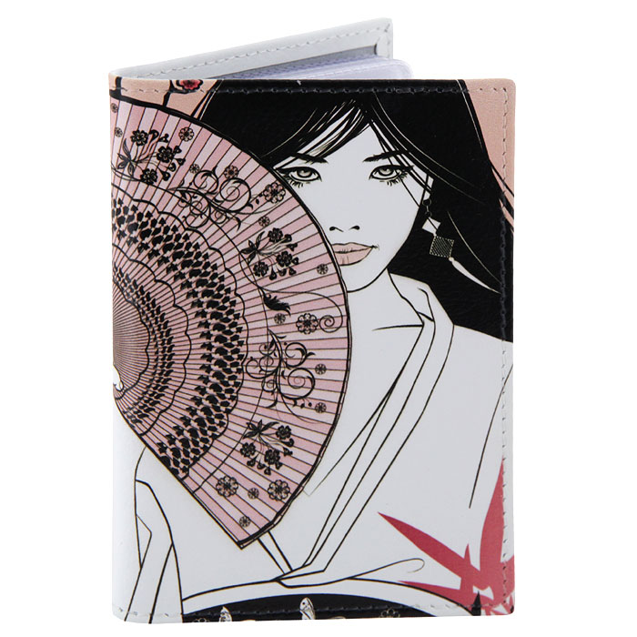 Визитница Perfecto Цветущая сакура. VZ-GL-0020A52_108Компактная визитница Цветущая сакура - стильная вещь для хранения визиток. Обложка визитницы выполнена из натуральной кожи и оформлена изображением японки с веером на фоне цветущей сакуры.Визитница предназначена для хранения 18 визиток. Характеристики: Материал: натуральная кожа, пластик.Размер визитницы: 7 см x 10,5 см.Производитель: Россия.Артикул: VZ-GL-0020.