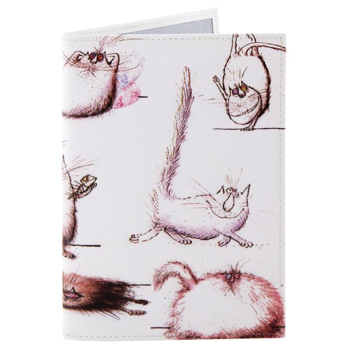 Обложка для паспорта Perfecto Кот, кот, кот!. PS-CT-0003OZAM024Обложка для паспорта Кот, кот, кот!, выполненная из натуральной кожи, оформлена изображением забавных котов и кошек. Такая обложка не только поможет сохранить внешний вид ваших документов и защитит их от повреждений, но и станет стильным аксессуаром, идеально подходящим вашему образу. Яркая и оригинальная обложка подчеркнет вашу индивидуальность и изысканный вкус. Обложка для паспорта стильного дизайна может быть достойным и оригинальным подарком.Характеристики: Материал: натуральная кожа, пластик.Размер (в сложенном виде): 9,5 см x 13,5 см.Производитель: Россия.Артикул: PS-CT-0003.