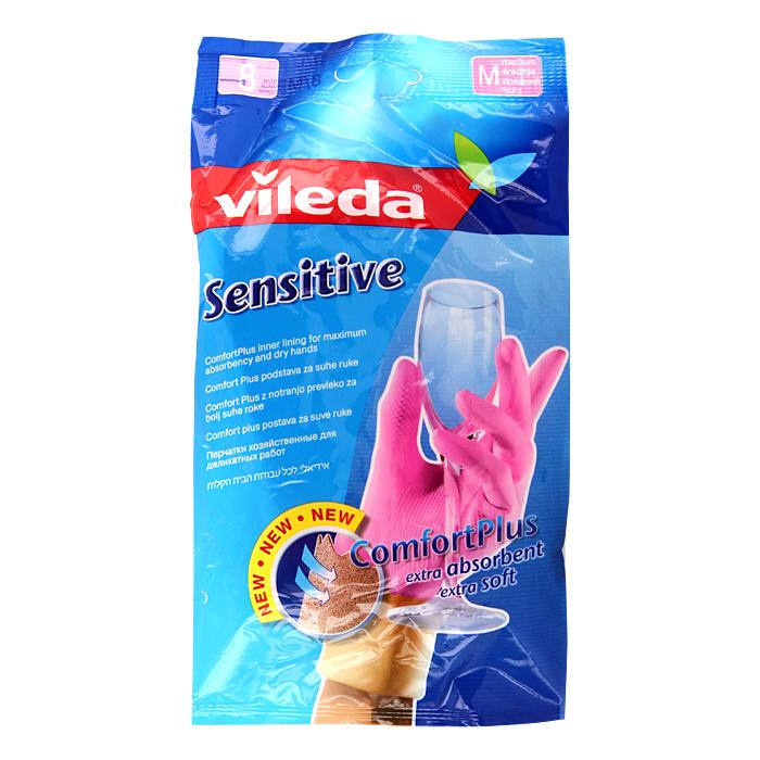 Перчатки для деликатных работ Vileda Sensitive. Размер M11950Хозяйственные перчатки Vileda Sensitive прекрасно подойдут для деликатных работ по дому.