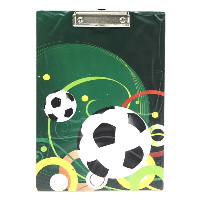Клип-борд Футбол, А4IPF310/BKКлип-борд Футбол не только будет незаменим при работе с документацией в нестандартных условиях, но и станет стильным деловым аксессуаром.Клип-борд изготовлен из жесткого картона, обтянутого высококачественным пластиком и оформлен изображением футбольных мячей и узоров. Металлический зажим надежно фиксирует листы, предотвращая сползание бумаги. Предусмотрено выдвигающееся крепление, с помощью которого планшет можно повесить на стену. Одновременно клип-борд может служить подручным ковриком для компьютерной мыши. Характеристики:Формат: А4. Материал: пластик, металл. Размеры клип-борда: 22,5 см х 32,5 см х 1 см.