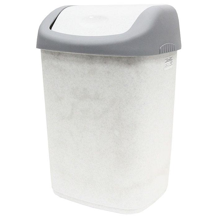 Контейнер для мусора, цвет: серый, белый, 14 л02001Контейнер для мусора с плавающей крышкой удобен в использовании. Контейнер выполнен из пластика серого и белого цветов. Характеристики: Материал: пластик. Объем: 14 л. Цвет: серый, белый. Размер контейнера: 33,5 см х 26,5 см х 21,5 см. Размер крышки: 22,5 см х 27 см х 9 см. Производитель: Россия. Артикул: 327.