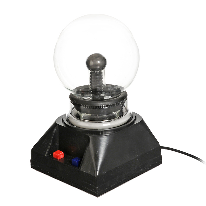 Светильник-плазма Шар. 91913A8777PL-3WGСветильник-плазма выполнен в виде стеклянного шара на подставке. Шар при включении создает внутри стеклянной сферы множество цветных молний. Молнии разбегаются во все стороны из центра, а если прикоснуться к поверхности шара пальцем, они сольются в один мощный поток. Также на подставке есть кнопка озвучки. Светильник работает от сети 220В. Этот светильник-плазма Шар будет прекрасным дополнением к вашему интерьеру, а так же может послужить замечательным подарком. Характеристики:Материал: пластик, стекло.Общая высота светильника: 18,5 см. Диаметр шара: 10 см. Цвет подставки: черный. Артикул: 91913. Размер упаковки: 12,5 см х 20 см х 12,5 см. Изготовитель: Китай.УВАЖАЕМЫЕ КЛИЕНТЫ! Во избежание перегрева и для сохранения рабочих свойств светильника, рекомендуется его выключение после каждых двух-трех часов непрерывной работы.