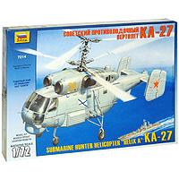 """Советский противолодочный вертолет """"КА-27"""" является исторически точным воспроизведением оригинала. Модель для склеивания противолодочного вертолета """"КА-27"""" развивает интеллектуальные и инструментальные способности, воображение и конструктивное мышление. Прививает практические навыки работы со схемами и чертежами. Идеально подходит для подарка! Советский противолодочный вертолет """"КА-27"""" был создан в ОКБ имени Камова в конце 70-х годов в интересах флота. Предназначен для поиска и уничтожения подводных лодок и ведения разведки. Моделистам до 10 лет при сборке модели рекомендуется помощь взрослых."""