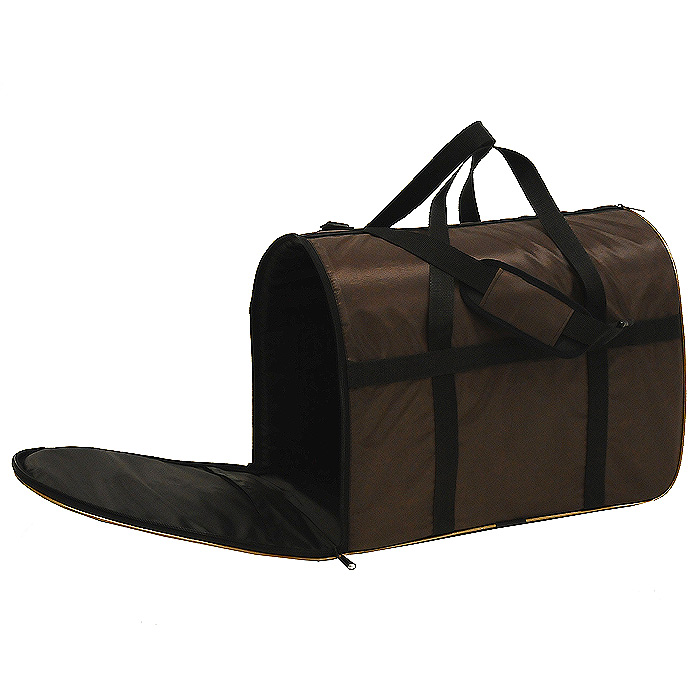 Сумка-переноска для животных Гамма, с сеткой, цвет: коричневый, 42 см х 25 см х 31 см21395599Текстильная сумка-переноска Гамма для собак мелких пород и кошек имеет твердое основание, которое не позволит животному провисать. С одной стороны переноски специальная вставка из сетки, чтобы ваш любимец мог дышать. С другой стороны замок-молния. Также в сумке есть специальная вставка для уплотнения, которая держит ее форму. Для извлечения вставки наверху есть специальный замок-молния.Для удобной переноски у сумки имеются две ручки и съемная лямка. Характеристики: Материал: текстиль. Цвет: коричневый. Размер сумки (ДхШхВ): 42 см х 25 см х 31 см. Производитель: Россия. Артикул: Дг-13000.