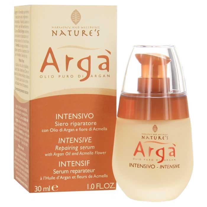 Сыворотка Natures Arga, интенсивная, восстанавливающая, 30 мл010gИнтенсивная восстанавливающая сыворотка Natures Arga эффективное омолаживающие средство для всех типов кожи. Предотвращает первые признаки старения, активно борется с мимическими морщинами, питает, увлажняет, тонизирует, смягчает, успокаивает кожу. Снимает мышечное напряжение. Оказывает антиоксидантное действие, удаляет продукты метаболизма, интенсивно восстанавливает структуру кожи, придает упругость и эластичность, способствует восстановлению овала лица. Быстро впитывается, не оставляя жирного блеска. Мужчины могут использовать сыворотку как идеальное средство после бритья. Способ применения: наносить утром и вечером нежными массажными движениями на предварительно очищенную кожу лица, шеи и области декольте. Можно использовать как самостоятельное средство или как основу под обычное средство ухода за лицом.Характеристики:Объем: 30 мл. Производитель: Италия. Артикул:60150501. Товар сертифицирован.