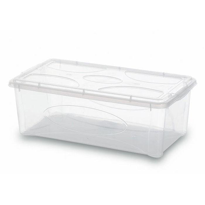 Контейнер Gensini с крышкой, универсальный, 5 л2204Универсальный контейнер Gensini прямоугольной формы прекрасно подойдет для хранения небольших игрушек, инструментов, швейных принадлежностей и многого другого. Он изготовлен из высококачественного прозрачного пластика. Благодаря прозрачности вы всегда сможете видеть содержимое контейнера и без труда отыщите нужную вам вещь. Контейнер закрывается крышкой. Удобный и легкий контейнер позволит вам хранить вещи в полном порядке, а благодаря современному дизайну он впишется в любой интерьер. Контейнер имеет компактные размеры, поэтому не занимает много места. Характеристики: Материал: пластик. Размер контейнера: 35 см х 20 см х 12,5 см. Объем контейнера:5 л. Производитель: Италия. Артикул: 2204.