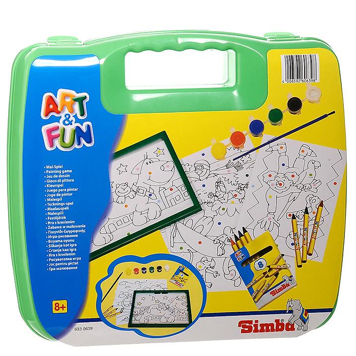 """С набором для раскрашивания """"Art & Fun"""" каждый сможет стать начинающим художником и создать свою собственную яркую и красивую картинку. Набор содержит в себе пять листов с контурами для раскрашивания, восемь цветных карандашей, шесть красок и кисточку, а также пластиковую рамку, в которую можно вставить готовый рисунок. Нужно только аккуратно нанести необходимый цвет на отмеченный для него участок. Таким образом, шаг за шагом у вас получатся веселые картинки. Если ваши дети любят рисовать и заниматься изобразительным искусством, то, несомненно, этот набор для них станет лучшим подарком. И процесс рисования превращается в удовольствие - не нужно думать над композицией, лист уже содержит готовый контур, и все, что нужно сделать - взять карандаши или краски, лист с контурами и начать раскрашивать."""