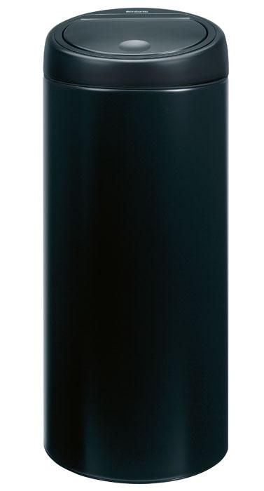 Бак мусорный Brabantia Touch Bin, цвет: матовый черный, 30 л531-105Стильный Touch Bin на 30 литров – непременный атрибут каждой гостиной или кухни. Порадуйте себя и удивите гостей! Бесшумное открывание/закрывание крышки легким касанием – система soft touch; Удобная смена мешков для мусора – съемный блок крышки из нержавеющей стали;Удобная очистка – съемное внутреннее ведро из пластика с вентиляционными отверстиями, предотвращающими образование вакуума при вынимании полного мусорного мешка; Легкое перемещение с места на место – прочная ручка для переноски; Предохранение пола от повреждений – пластиковый защитный обод; Бак изготовлен из коррозионно-стойких материалов – долговечность и удобство в очистке; Всегда опрятный вид – идеально подходящие по размеру мешки для мусора с завязками (размер C); 10-летняя гарантия Brabantia. Цвет: матовый черный