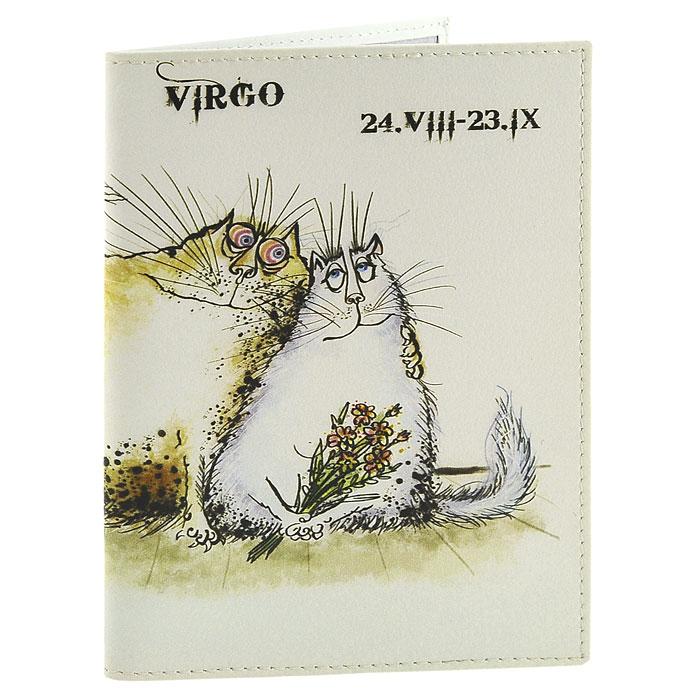Обложка для паспорта Perfecto Virgo PS-ZDCT-06GL-225Обложка для паспорта Дева, выполненная из натуральной кожи, оформлена оригинальным изображением забавного кота, символизирующего знак зодиака - дева. Такая обложка не только поможет сохранить внешний вид ваших документов и защитит их от повреждений, но и станет стильным аксессуаром, идеально подходящим вашему образу. Обложка для паспорта стильного дизайна может быть достойным и оригинальным подарком.Характеристики: Материал: натуральная кожа, пластик.Размер (в сложенном виде): 9,5 см x 13,5 см.Производитель: Россия.Артикул: PS-ZDCT-06.