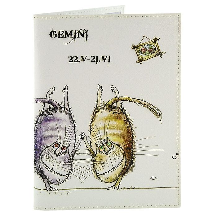 Обложка для паспорта Perfecto Gemini. PS-ZDCT-030404043Обложка для паспорта Близнецы, выполненная из натуральной кожи, оформлена оригинальным изображением забавных котов символизирующих знак зодиака - близнецы. Такая обложка не только поможет сохранить внешний вид ваших документов и защитит их от повреждений, но и станет стильным аксессуаром, идеально подходящим вашему образу. Обложка для паспорта стильного дизайна может быть достойным и оригинальным подарком.Характеристики: Материал: натуральная кожа, пластик.Размер (в сложенном виде): 9,5 см x 13,5 см.Производитель: Россия.Артикул: PS-ZDCT-03.