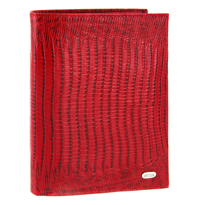 Обложка для паспорта Petek с бумажником, цвет: красный. 597.041.10009 02 07/08Обложка для паспорта Petek выполнена из натуральной кожи красного цвета с декоративным тиснением под рептилию.Внутри - отделение для паспорта, два отделения для купюр, пять кармашков для кредитных карт, два вертикальных кармана для бумаг и два вертикальных сетчатых кармана.Обложка не только поможет сохранить внешний вид ваших документов и защитить их от повреждений, но и станет стильным аксессуаром, идеально подходящим вашему образу. Такая обложка станет замечательным подарком человеку, ценящему качественные и практичные вещи. Характеристики: Материал: натуральная кожа, текстиль. Цвет: красный. Размер обложки (в закрытом виде): 14 см x 10,5 см х 1,5 см. Размер упаковки: 15 см x 11,5 см x 2,5 см. Изготовитель: Турция. Артикул: 597.041.10. Фирма PETEK была основана в 1855 году в Македонии, в городе Велес. Товары, выпускаемые под маркой PETEK, всегда отличаются высоким качеством. Все изделия выполнены из качественной кожи. Вы сможете найти все, что вам может понадобиться: начиная от футляра для ключей и портмоне, до сумок, портфелей и ремней. Аксессуары марки PETEK - качество и традиции, проверенные временем.