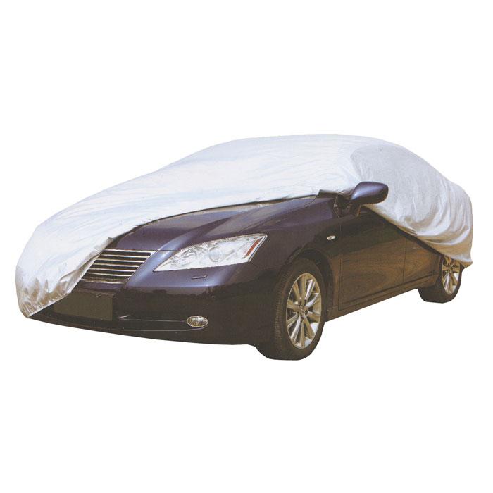 Чехол защитный Koto для автомобиля. Размер XXL98291124Легкий и мягкий защитный чехол Koto защитит автомобиль от солнца, дождя, пыли, снега и птиц.Высокопрочный и износостойкий, водонепроницаемый и светоотражающий. Чехол упаковывается в сумочку на застежке-молнии. Характеристики:Материал: полиэстер. Размер накидки: XXL (572 см х 203 см х 122 см). Цвет накидки: серый. Размер сумочки: 24,5 см х 32 см х 8 см. Производитель: Китай. Артикул:CMF-137.