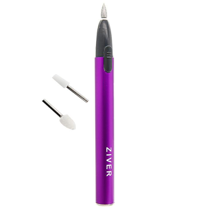 Прибор для маникюра Ziver, с 3 насадкамиMPS 3400Компактный прибор для маникюра Ziver исправит все неожиданности, связанные с маникюром.Можно хранить в косметичке. К прибору прилагаются 3 насадки: сапфировая, шлифующая и войлочная. Работает от 1 батарейки типа ААА (не входит в комплект). Характеристики:Материал: пластик, металл. Длина прибора (без крышечки): 14,5 см. Артикул: 112. Производитель: Китай.