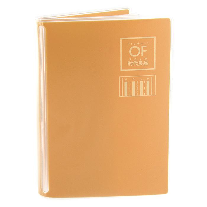 """Яркая визитница """"Цвет!"""" рассчитана на 8 карточек. Файлы из мягкого прозрачного пластика бережно сохранят ваши визитки и кредитные карты в одном месте. Обложка выполнена из пластика оранжевого цвета."""