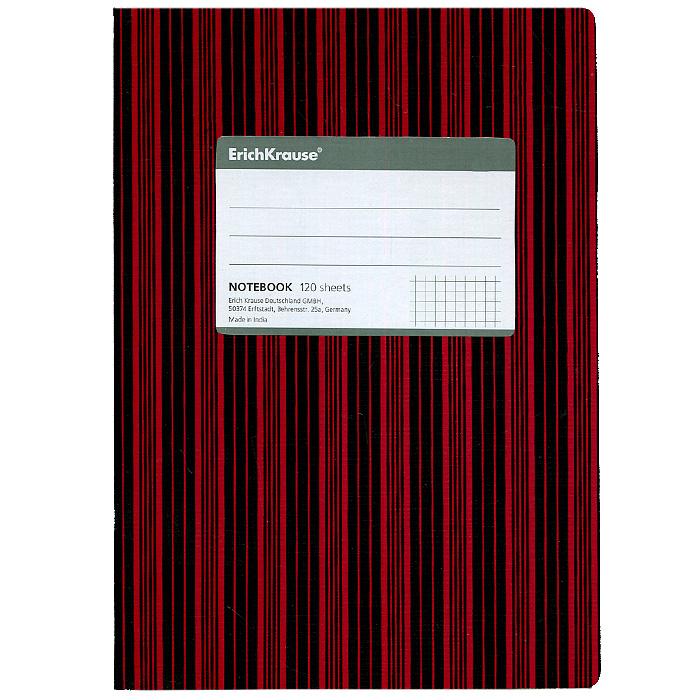 Тетрадь Two Colors, цвет: красный, черный, 120 листов, А572523WDТетрадь Two Colors в клетку из белой офсетной бумаги послужит прекрасным местом для различных записей. Обложка тетради выполнена из тонкого картона с покрытием. Такая тетрадь подойдет как школьнику, так и студенту. Характеристики:Размер тетради: 14,5 см х 20,5 см х 1,1 см. Формат: А5. Количество листов: 120. Материал: картон, бумага. Изготовитель: Индия.