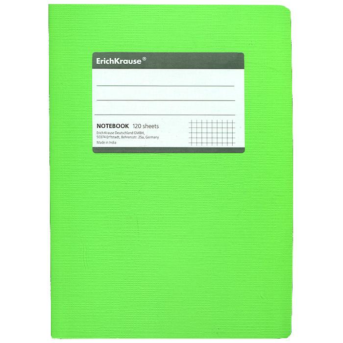 Тетрадь Fluor, цвет: салатовый, 120 листов, А57090/5_ФизалисТетрадь Fluor в клетку из белой офсетной бумаги послужит прекрасным местом для различных записей. Обложка тетради выполнена из тонкого картона с покрытием. Такая тетрадь подойдет как школьнику, так и студенту. Характеристики:Размер тетради: 14,5 см х 20,5 см х 1,1 см. Формат: А5. Количество листов: 120. Материал: картон, бумага. Изготовитель: Индия.
