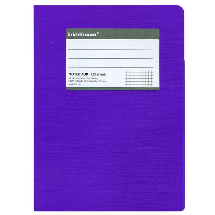 Тетрадь Fluor, цвет: фиолетовый, 120 листов, А527957Тетрадь Fluor в клетку из белой офсетной бумаги послужит прекрасным местом для различных записей. Обложка тетради выполнена из тонкого картона с покрытием. Такая тетрадь подойдет как школьнику, так и студенту. Характеристики:Размер тетради: 14,5 см х 20,5 см х 1,1 см. Формат: А5. Количество листов: 120. Материал: картон, бумага. Изготовитель: Индия.