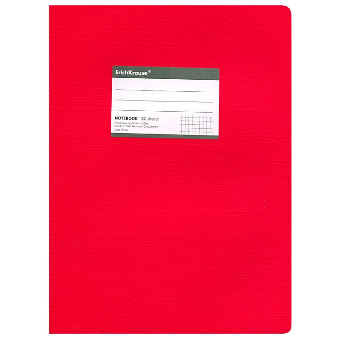 Тетрадь One Color, цвет: красный, 120 листов, А472523WDТетрадь One Color в клетку из белой офсетной бумаги послужит прекрасным местом для различных записей. Обложка тетради выполнена из тонкого картона с покрытием. Такая тетрадь подойдет как школьнику, так и студенту. Характеристики:Размер тетради: 20,5 см х 29 см х 1,1 см. Формат: А4. Количество листов: 120. Материал: картон, бумага. Изготовитель: Индия.