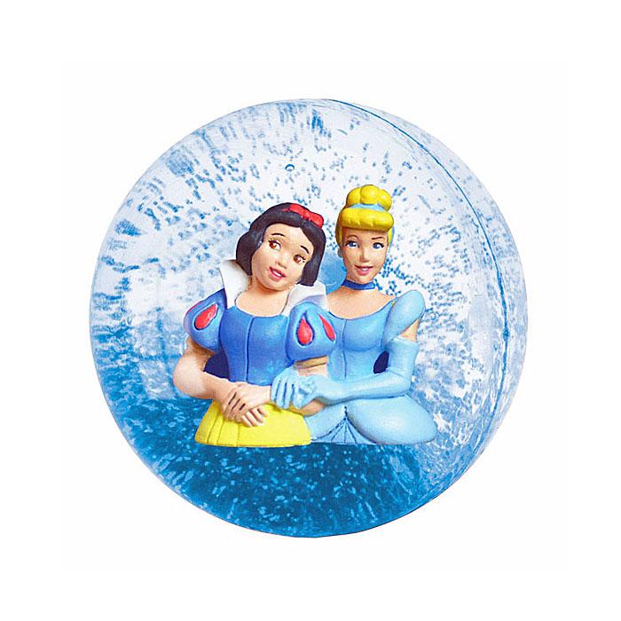 """Мяч 3D """"Принцессы"""" привлечет внимание вашего малыша и порадует его пружинистыми скачками. Мячик-попрыгунчик - игрушка, проверенная временем. Только со временем он стал еще и очень красивым. Внутри прозрачного мячика расположены фигурки Белоснежки и Золушки. Такой мячик прекрасно подходит для всевозможных подвижных игр и развивает координацию движений, глазомер и внимание ребенка."""