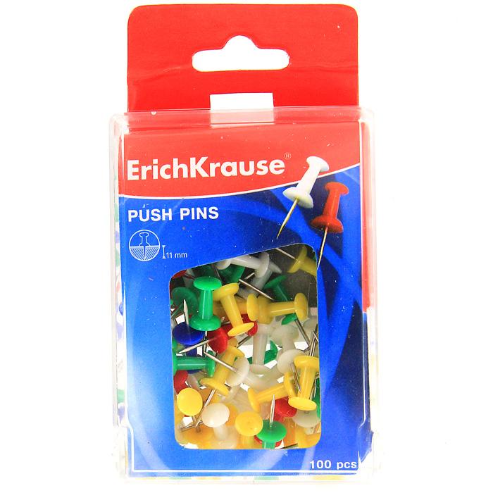 Кнопки канцелярские Erich Krause, силовые, 100 штPP-301Силовые канцелярские кнопки-гвоздики Erich Krause - универсальный офисный инструмент. Кнопки изготовлены из высококачественного металла с цветными пластиковыми шляпками. Кнопки с легкостью входят в твердые поверхности. Цветные канцелярские кнопки-гвоздики Erich Krause разбавят строгую офисную обстановку яркими цветами и поднимут настроение.Характеристики:Материал: пластик, металл. Длина кнопки: 2,5 см. Количество: 100 шт. Размер упаковки:9 см х 6,5 см х 3 см. Изготовитель: Китай. Бренд Erich Krause - это полный ассортимент канцтоваров для офиса и школы, который гарантирует безукоризненное исполнение разных задач в процессе работы или учебы, органично и естественно сопровождает вас день за днем. Для миллионов покупателей во всем мире продукция Erich Krause стала верным и надежным союзником в реализации любых проектов и самых амбициозных планов. Высококвалифицированные специалисты Erich Krause прилагают все свои усилия, что бы каждый продукт компании прослужил максимально долго и неизменно радовал покупателей удобством и легкостью использования, надежностью в эксплуатации и прекрасным дизайном.