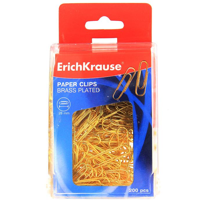 Скрепки омедненные Erich Krause, 200 шт19739Скрепки Erich Krause золотистого цвета - это универсальный офисный инструмент. Скрепки изготовлены из высококачественной омедненной проволоки.Скрепки Erich Krause обеспечат надежное скрепление документов и офисных бумаг. Характеристики:Размер скрепки: 2,5 см x 1 см. Количество: 200 шт. Размер упаковки: 9 см x 6,5 см x 3 см. Изготовитель: Китай. Бренд Erich Krause - это полный ассортимент канцтоваров для офиса и школы, который гарантирует безукоризненное исполнение разных задач в процессе работы или учебы, органично и естественно сопровождает вас день за днем. Для миллионов покупателей во всем мире продукция Erich Krause стала верным и надежным союзником в реализации любых проектов и самых амбициозных планов. Высококвалифицированные специалисты Erich Krause прилагают все свои усилия, что бы каждый продукт компании прослужил максимально долго и неизменно радовал покупателей удобством и легкостью использования, надежностью в эксплуатации и прекрасным дизайном.