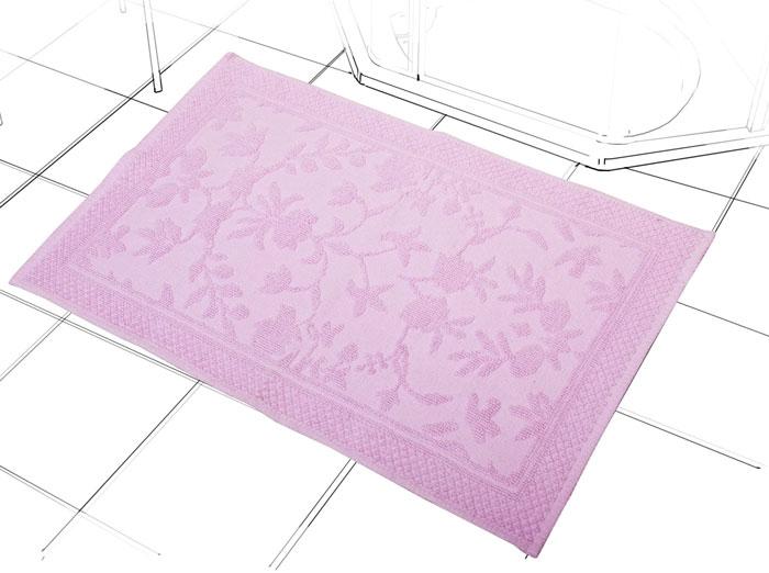 Коврик Кармен, цвет: орхидея, 60 см х 90 см391602Коврик Кармен нежного розового цвета с рельефным рисунком, выполнен из высококачественного хлопкового волокна. Высочайшее качество материала гарантирует безопасность для всех членов семьи. Характеристики:Материал: хлопок.Размер коврика: 60 см х 90 см.Цвет: орхидея.Производитель: Индия. Артикул:1207.3.