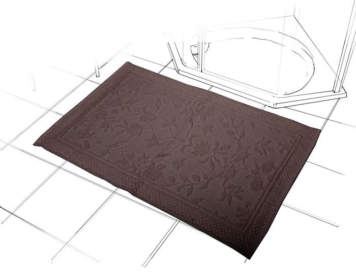 Коврик Кармен, цвет: шоколад, 60 см х 90 см391602Коврик Кармен красивого шоколадного цвета с рельефным рисунком, выполнен из высококачественного хлопкового волокна. Высочайшее качество материала гарантирует безопасность для всех членов семьи. Характеристики:Материал: хлопок.Размер коврика: 60 см х 90 см.Цвет: шоколад.Производитель: Индия. Артикул:1207.1.