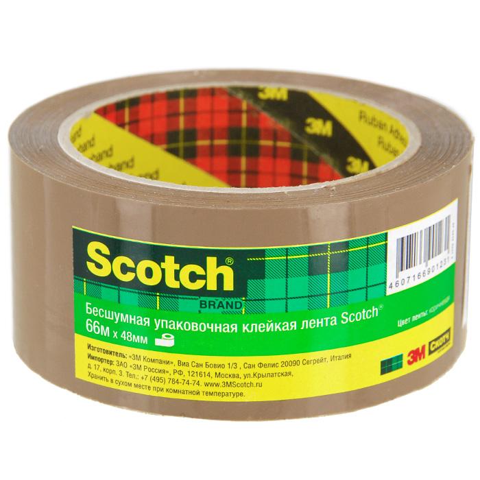 Клейкая лента Scotch, упаковочная, цвет: коричневыйFS-00261Упаковочная лента Scotch - универсальный материал, надежно обеспечивающий целостность любых упаковок и сохранность предметов, помещенных в коробки, ящики и т.д. Благодаря особой технологии нанесения клеевого состава она разматывается практически бесшумно.Характеристики:Размер ленты: 5 см х 66 м. Изготовитель: Италия.Уважаемые клиенты! Обращаем ваше внимание на возможные изменения в дизайне упаковки. Качественные характеристики товара остаются неизменными. Поставка осуществляется в зависимости от наличия на складе.