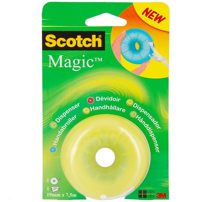 Диспенсер Scotch Magic, с клейкой лентой,в ассорт.FS-00103Диспенсер Scotch Magic с клейкой лентой станет незаменимым для склеивания поврежденных документов, упаковки коробок, пакетов и подарков. Благодаря пластиковому ножу, вы без труда оторвете клейкую ленту необходимого вам размера. Характеристики: Ширина ленты: 1,9 см. Длина ленты: 7,5 м. Размер диспенсера:7 см х 7 см х 3 см. Размер упаковки:10,5 см х 17 см х 3 см.
