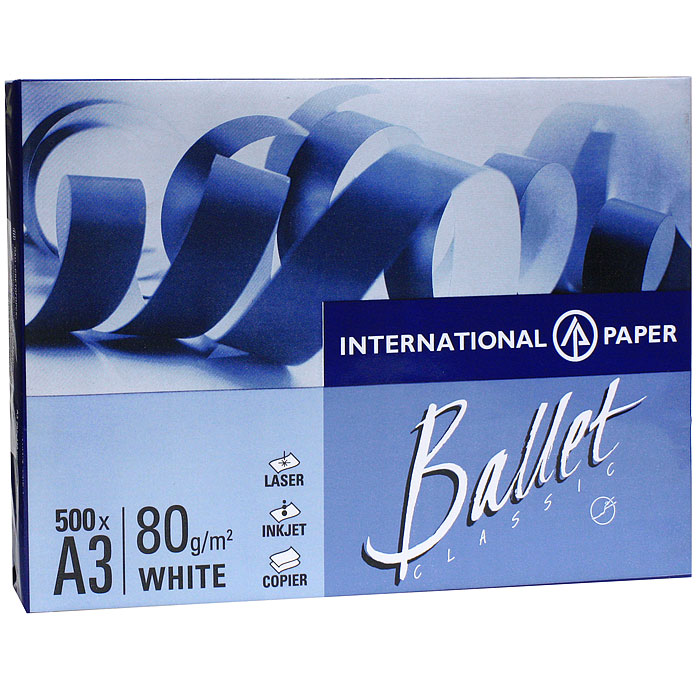 Бумага офисная  Ballet Classic , 500 листов, А3 -  Бумага для печати