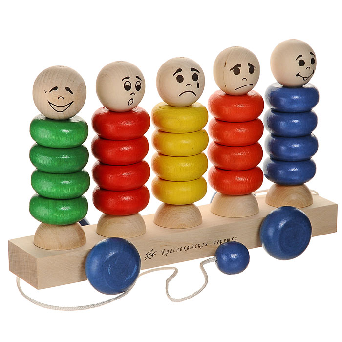 Краснокамская игрушка Игрушка-каталка Квинтет -  Каталки, понициклы