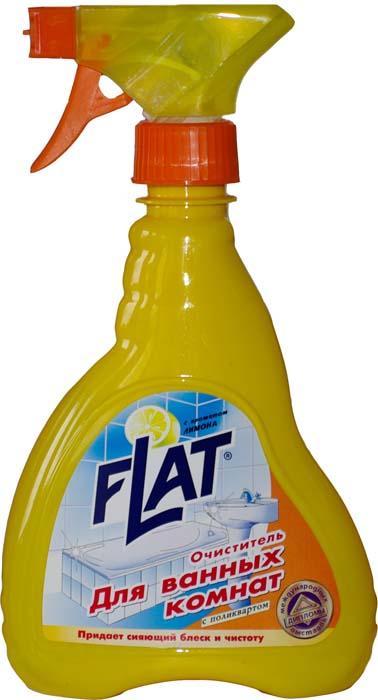Очиститель для ванных комнат Flat, с ароматом лимона, 480 г391602Высокоэффективное средство с маслом цитрусовых для чистки кафеля, плитки, никелированных поверхностей (краны, душ). Быстро удаляет известковый налет и прочие загрязнения. Содержит поликварт, образующий на поверхности невидимую пленку, позволяющую каплям воды легко скатываться, не оставляя потеков и белых пятен. Благодаря дозатору-распылителю средство быстро и равномерно распределяется по очищенной поверхности. Регулярное применение очистителя обеспечивает идеальный вид ванной комнаты. Характеристики:Вес: 480 г. Производитель: Россия.