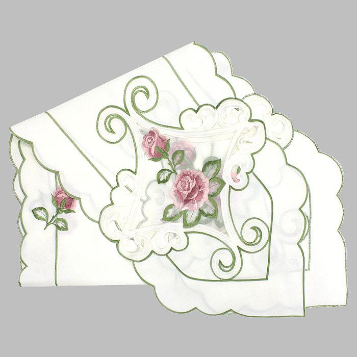 Дорожка для декорирования стола Schaefe, с вышивкой, цвет: белый, 35 x 180 см2813Дорожка Schaefe, выполненная из полиэстера белого цвета, предназначена для декорирования стола. Она украшена вышивкой в виде красных роз и обработана по краю фестонами. Изысканное оформление изделия придает ему необыкновенную легкость.Дорожка Schaefe станет великолепным украшением вашего стола и создаст атмосферу уюта. Характеристики:Материал: 100% полиэстер. Размер:35 см х 180 см. Цвет:белый. Производитель:Германия. Артикул:06584-236. Немецкая компания Schaefer создана в 1921 году. На протяжении всего времени существования она создает уникальные коллекции домашнего текстиля для гостиных, спален, кухонь и ванных комнат. Дизайнерские идеи немецких художников компании Schaefer воплощаются в текстильных изделиях, которые сделают ваш дом красивее и уютнее и не останутся незамеченными вашими гостями. Дарите себе и близким красоту каждый день!