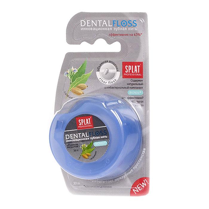 Зубная нить Splat Dental Floss, с ароматом кардамонаФК-602Объемная вощеная зубная нить Splat Dental Floss с уникальной структурой (Riser Floss) при натяжении легко проникает в межзубные промежутки, бережно и эффективно очищает поверхность зубов, заботясь о здоровье десен. Антибактериальный компонент Biosol препятствует размножению бактерий. Использование нити помогает предотвратить кариес и заболевания десен, уменьшает образование налета на 69%, снижает кровоточивость десен на 50%. Характеристики:Длина нити: 30 м. Производитель: Италия. Товар сертифицирован.