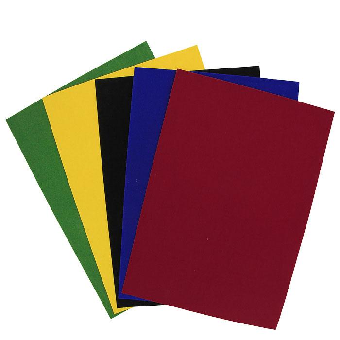 """Набор цветной бархатной бумаги """"Fancy"""" состоит из листов синего, черного, желтого, красного и зеленого цветов. Он позволит вам создавать всевозможные аппликации и поделки. Создание поделок из цветной бумаги позволяет ребенку развивать творческие способности, кроме того, это увлекательный досуг. Воплотите свои творческие фантазии в красочных аппликациях с помощью этого набора!"""