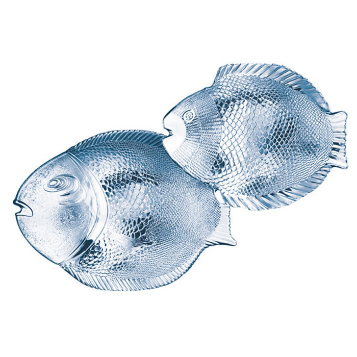 Набор тарелок Marine, 7 штFS-91909Набор Marine состоит из 6 маленьких и 1 большой тарелки в форме рыбок. Изделия, выполненные из стекла и предназначены для красивой сервировки различных блюд. Тарелки сочетают в себе изысканный дизайн с максимальной функциональностью. Оригинальностьоформления придется по вкусу и ценителям классики, и тем, кто предпочитает утонченность и изящность.Характеристики: Материал: стекло. Размер большой тарелки: 36 см х 2,5 см х 25 см. Размер маленкой тарелки: 25 см х 2,5 см х 21 см. Размер упаковки: 36 см х 12 с х 26,5 см. Производитель: Турция. Изготовитель: Россия. Артикул: 97159.