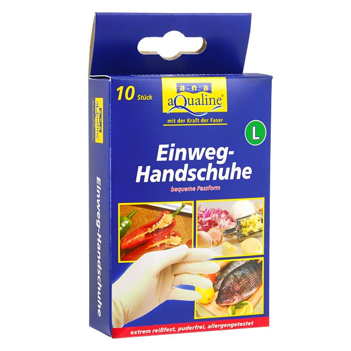 Набор одноразовых перчаток Aqualine, размер: L, 10 штCLP446Одноразовые перчатки Aqualine предназначены для любых работ по дому, а также в саду, парикмахерской и больнице. Они сохраняют высокую чувствительность рук, хорошо растягиваются и в то же время высокопрочные на разрыв. Небольшое количество протеина обеспечивает защиту чувствительной кожи от аллергии. Каждая перчатка подходит на обе руки. Характеристики:Состав: натуральная резина, наполнитель, средства для вулканизации, стабилизаторы, диоксид титана. Размер:L (большой). Комплектация:10 шт. Размер упаковки: 14,5 см х 3 см х 8 см. Производитель:Германия. Артикул:9079.