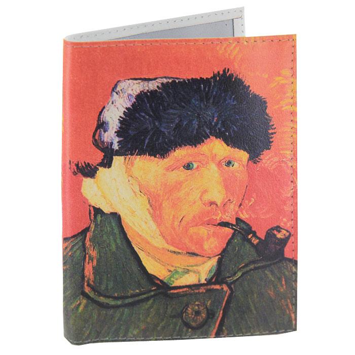 Обложка для паспорта Ван Гог портрет. OK035OK415Обложка для паспорта, выполненная из натуральной кожи, оформлена изображением знаменитого автопортрета Ван Гога. Такая обложка не только поможет сохранить внешний вид ваших документов и защитит их от повреждений, но и станет стильным аксессуаром, идеально подходящим вашему образу. Яркая и оригинальная обложка подчеркнет вашу индивидуальность и изысканный вкус. Обложка для паспорта стильного дизайна может быть достойным и оригинальным подарком. Характеристики: Материал: натуральная кожа, пластик. Размер (в сложенном виде): 9,5 см х 14 см. Производитель:Россия. Артикул:OK35.