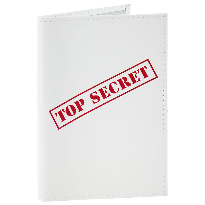 Обложка для паспорта Top Secret. OK10033544Обложка для паспорта, выполненная из натуральной кожи белого цвета, оформлена надписью Top Secret. Такая обложка не только поможет сохранить внешний вид ваших документов и защитит их от повреждений, но и станет стильным аксессуаром, идеально подходящим вашему образу. Яркая и оригинальная обложка подчеркнет вашу индивидуальность и изысканный вкус. Обложка для паспорта стильного дизайна может быть достойным и оригинальным подарком. Характеристики: Материал: натуральная кожа, пластик. Размер (в сложенном виде): 9,5 см х 14 см. Производитель:Россия. Артикул:OK100.