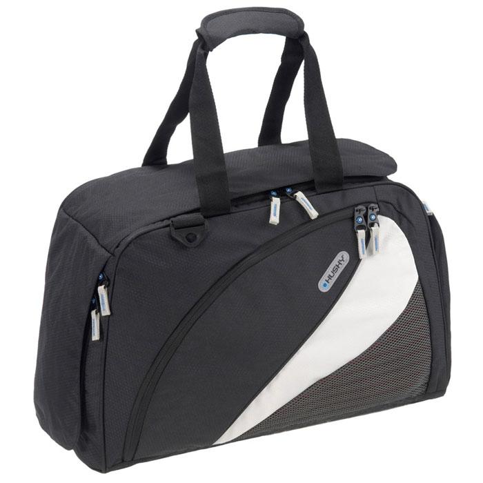 Сумка спортивная Husky Gillet 43L, цвет: черныйTS32GJF370Спортивная сумка Husky Gillet 43L очень практичная и удобная. Выполнена из водонепроницаемого материала. Внутри сумка состоит из одного большого отделения, небольшого накладного кармана на застежке-молнии и трех небольших карманов из сетчатого материала. Сумка застегивается на застежку-молнию.Внешняя сторона оснащена большим карманом для сменной обуви, карманом внутри которого небольшое отделение на застежке-молнии и отделение для бутылки с эластичными резинками, а также большим карманом. Все карманы застегиваются на застежки-молнии.Сумка дополнена двумя ручками для удобной переноски и съемным плечевым ремнем. Характеристики:Объем:43 л. Размер: 55 см х 34 см х 23 см. Материал: полиэстер Diamond RipStop 420D с водоотталкивающей пропиткой. Вес: 800 г. Производитель: Чехия.